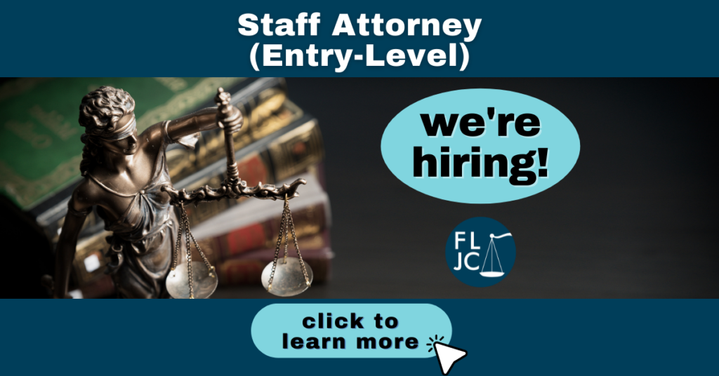 Now Hiring Entry-Level Staff Attorney