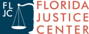 Florida Justice Center FLJC Logo Blue and Orange
